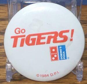Detroit Tigers Vintage Pinback button Dominos 1984 RARE.