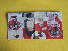 5 Servietten KAFFEE PAUSE Espresso Pralinen Serviettentechnik 1/2 COFFEE  Glas W