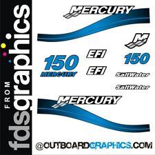Mercury 150hp 2 stroke Saltwater EFI outboard decals/sticker kit