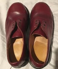 Dr Doc Martens Vtg Cherry/Oxblood Oxford Leather Shoes Women's UK5/US7 England