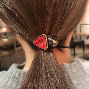 Hair Ties Hair Rope 1PC Geometric Crystal Ball Elastic Hair Bands Accessories