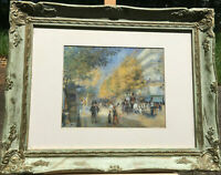 """Pierre Auguste Renoir """"The Great Boulevards"""" 1875 Wall Pictures Framed & Matted"""