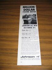 1964 Print Ad Johnson All New Sea-Horse 9 1/2 HP Outboard Motors