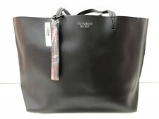 Victoria's Secret VS Large Faux Leather Tote in Black BNWT