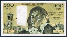 FRANCE - 500 FRANCS PASCAL - Fayette n° 71.33 du 3-4-1985.A en TB B.225 36011