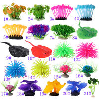 Aquarium Fish Tank Landscaping Decor Animal Plants Grass Coral Water Ornament