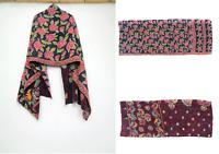 Cotton Kantha Scarf Head Wrap Stole Dupatta Hand Quilted Women headband