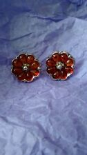 1 Pair Sterling Silver 925 and AMBER EARRINGS