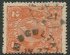 Moculta JY. 27/21 S.A. unframed, Postmark on KGV 2d Orange.