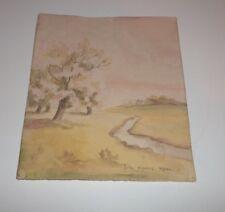 Original Art Signed Watercolor Lila Moore Keen! Georgia Painter Landscape