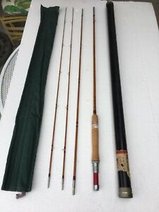 VTG Unused Montague Redwing 1RWF Manitou #1 9' 5 1/2 oz Bamboo Fly Rod