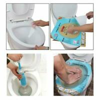 Plastic Toilet Clog Sticker Plunger Dredge Easy Fix Clogged Fixtures Disposable