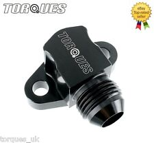 Suzuki GSXR Engine To Oil Cooler 90 Degree Take Off Adapter In AN -8 (AN8) BLACK