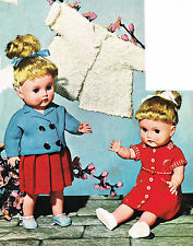 "Dolls knitting pattern.17-18""doll.  Laminated copy. (V Doll 126)"