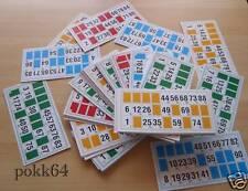 Jeu de 48 cartons de loto en couleur plaques cartes neuves grilles différentes