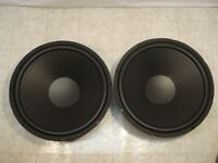 "NEW 15"" Subwoofers Replacement Speakers.8 ohm.Woofers.PAIR (2).DJ.PA.Home Audio"