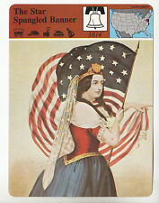 THE STAR SPANGLED BANNER Song History Sheet Music Artwork STORY OF AMERICA CARD