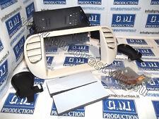 Mascherina PANNA (avorio) autoradio Doppio 2 Din FIAT 500 AIR con bocchette ARIA