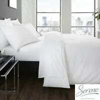 Plain Dye Easy Care Mix and Match Duvet Cover & Sheets In White By Serene