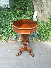 Antique Victorian Style Mahogany Sewing / Side Table!