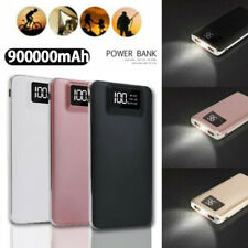 900000mAh Dual USB Portable Power Bank External Battery Backup Charger For Apple