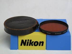 """Nikon Nikkor 95mm O56 Orange filter with leather case, US SELLER, """"LQQK"""""""