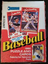NEW Sealed Packs 1990 Donruss MLB Baseball Cards Box 36 Packs Carl Yastrz Puzzle