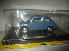 FIAT 600D 1960 QUATTRORUOTE COLLECTION SCALA 1:24 FABBRI