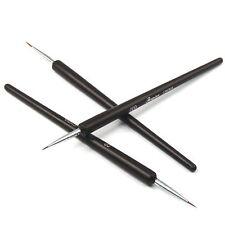 3 x Tiny Acrilico Nail Art Decorazione Brush Pen pittura disegno Strumento