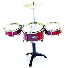 Fun Central AT996 Drum Set for Kids, Musical Instrument for Kids, Red