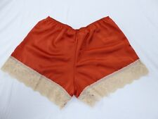 Paprika  Polyester  Satin French Knickers 10/12  with Coffee Lace
