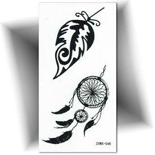 ►PETIT TATOUAGE TEMPORAIRE PLUME (éphémère,faux tattoo, femme, autocollant)◄