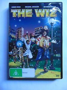 The Wiz - Michael Jackson, Diana Ross - Region 4 DVD - FREE POST