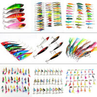 Mixed Fishing Lures Hooks Tackle Spinners Plugs Soft Bait Pike Bass Trout Salmon