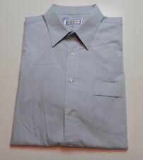 Yves Saint Laurent Long Sleeve Dress Shirt Mens Size 17 34-35 Cotton Blend Blue
