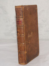 ANTIQUE LEATHER BOOK METHOD OF TEACHING BELLES LETTRES BY ROLLIN LONDON 1761 V1