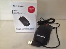Lenovo Optical Wheel Wired mice Mouse for PC Laptop Notebook USB 2.0 M120 New