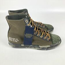Polo Ralph Lauren Solomon II Shoes Men's Size 8 Olive Green Camo 01087