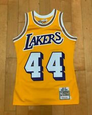MITCHELL AND NESS JERRY WEST LOS ANGELES LAKERS AUTHENTIC GAME JERSEY SZ S-4XL