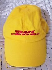 DHL Yellow/Red OFFICIAL Work Hat/Cap w/Box NEW NEVER USED CHEAP MUST SEE