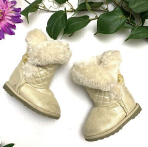 Maggie & Zoe Faux Fur Boots Baby/Toddler Boot Sz 6