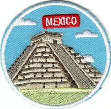 MEXICO LANDMARK EL CASTILLO PYRAMID Iron On Patch Mexican