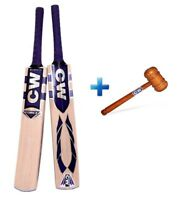 Force Short Handle Kashmir Willow Cricket Bat With Free Wooden Knocking Mallet