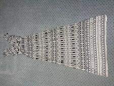Totalmente nuevo para mujeres Dorothy Perkins Negro Y Blanco Vestido Maxi Estilo Art Nouveau Talla 8