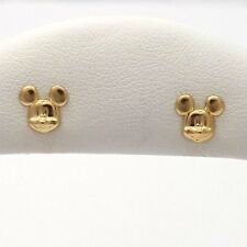 14k Gold Walt Disney Productions Mickey Mouse Child/Baby Post Stud Earrings 0.8g