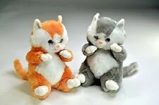 Peluches, Animales de peluche, Gatos, Katzenbabys, 2 Gatito con Ojos de cristal