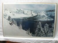 CRATER LAKE SNOW SKIING 1980 VINTAGE POSTER SKI SKIER CNG723