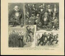 1883 - Antique Print LONDON Westminster Aquarium National Liberal Club   (151B)