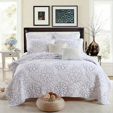 Quilted Cotton Coverlet Bedspread Set King / Super King 230x270cm MP021