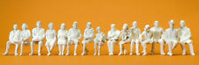 Preiser 63001 Sitting Traveler 15 UNPAINTED FIGURES, 1 Gauge